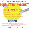 Promotion 4101, 4110 LED Profile $1.99/M with Aluminum Profile and PC Cover for Shelves Strip Light