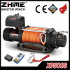 12V 9500lbs Drum Electric Winch with Synthetic Rope