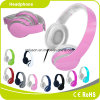 Pink Colorful Customized Logo Perfect Sound Effect Music Headphone