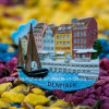 Souvenir Polyresin Magnet of Denmark Copenhagen Nyhavn