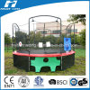 Soccer Goal Game with Target Below Trampoline