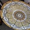 Architecture Tile Roofing Metal Frame Materials Big Stained Glass Dome