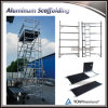 Aluminum Alloy Frame Scaffold Double Width Scaffolding System with Caster