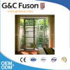 Durable Champagne Color Aluminium Casement French Door for Balcony