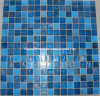 Blue Goldline Glass Mosaic Tile (HGM327)