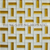 Golden Powder Mix Stainless Steel Crystal Glass Mosaic Wall Tile (KB10)