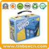 Food Grade Handle Lunch Tin Box with Clasp for Gifts