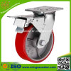 Industry Castor PU Cast Iron Core Wheel Caster