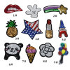 Badget Bag Beaded Patch, Garment Sewing Applique with Beads, Cartoon Embroidery