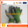 Ddsafety 2017 10 Gauge Green T/C Shell Grey Latex Foam Coating Working Gloves