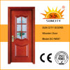 Modern Design Interior Solid Wood Door with Door Frame (SC-W097)