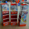 Kinder Cardboard Floor Display, Three Layer Cardboard Retail Display Stand for Store