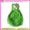 Small MOQ Wholesal Light Green Cotton Net Mesh Shopping Bag