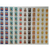 Clear Water Resistant Colorful Square PU Epoxy Resin Domed Emoji Stickers