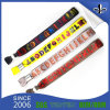 Fashion Woven Polyester Wristband with Plastic Lock