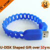 Sports Gift Hollow Silicone Wristband USB Flash Stick (YT-6309)
