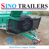 Family Travel Trailer with Waterproof Camper Tent