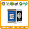 Square Tin Tea Caddy for Tea Tin Box Packaging