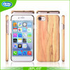 Luxury Ultra Slim Wood Grain PU Leather Soft Back Cover Phone Case for iPhone 5 5s 6 7 6 Plus
