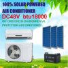 100% Solar Powered off Grid DC 48V Solar Air Conditioner
