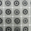 Black and White Voile Lace with Orgenza Lace Fabric (L5129)