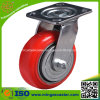 Hand Trolley Swivel Polyurethane Cast Iron Wheel