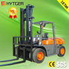 7t Triplex Mast Diesel Forklift with Dual Front Wheels