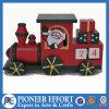 Wooden Advent Calendar Train Design with Santa for Christmas