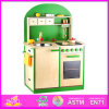 2014 New Design Kitchen Toy for Kids, Happy Wooden Kitchen Itchen Toy for Children, Pretend Play Wood Kitchen Set for Baby W10c066