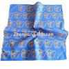 Customized Logo Bear Cartoon Printed Cotton Blue Kid′s Promotional Bandana Head Wrap