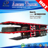 3/4 Axles 50tons Flatbed 45ft Container Semi Trailer