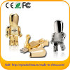 Metal Robot USB Drive Golden & Silver for Choice (EM604)
