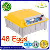48 Eggs CE Approved Fully Automatic Chicken Egg Incubator for Hatching Eggs