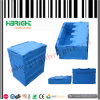 Folding Collapsible Plastic Crate with Lid for Storage