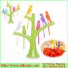 Novelty Plastic Bird Fruit Sticks, Fruit Forks with Holder Set
