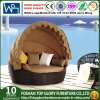 Outdoor Rattan Round Sun Bed with Canopy (TGLU-11)