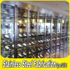 Bespoke Metal Stainless Steel Wine Display Shelves Wine Rack