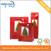 Glossy Lamitation Christmas Tree Red Gold Handle Bag (QY150285)