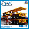 Hot Sale Flat Bed Container Chassis Trailer Skeletal Semi Trailer with Twist Locks and Hoops