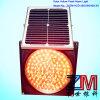 Solar Amber Flashing Traffic Warning Light for Roadway Safety
