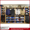 Wooden Wall Mounted Display Shelf for Men Clothing Store Interior Design