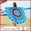 2017 New Printed Microfiber Round Beach Towel with Tassel Df-B109