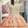 Lace up Custom Made V Neck Wedding Dress