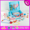 2015 Good Sale Toy Doctor Kit for Preschool Kids, Pretend Play Children Doctor Set Toy, High Quality Wooden Toy Doctor Kit (W10D012)
