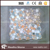 White and Black Round Pattern Marble Mosaic Tiles for Swimming Pool and Wall
