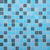 20*20mm Swimming Pool Glass Mosaic Gold Line Mosaic