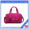 Pink Nylon Handbag for Ladies