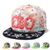 Lady Flower Printed Embroidered Cotton Fashion Leisure Trukfit Cap (YKY3337)