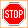 Reflective Stop Warning Sign, Road Traffic Sign