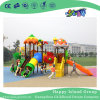 2018 New Outdoor Leaves and Mushroom Roof Children Playground Equipment with Cylindrical Slide (H17-B4)